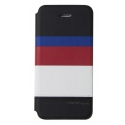 Acc. Чехол-книжка для iPhone SE/5S Uniq March Captain Snazzy (Кожа) (Черный/Белый)