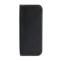 Acc. Чехол-книжка для iPhone SE/5S MYCASE Wallet (Кожа) (Черный) (Black/White)