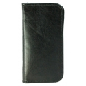 Acc. Чехол-книжка для iPhone SE/5S MYCASE Wallet (Кожа) (Черный) (Black Horizon)