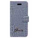 Acc. Чехол-книжка для iPhone SE/5S Guess Horizontal Flap (Кожа) (Голубой) (GUFLHP5CRN)