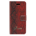 Acc. Чехол-книжка для iPhone SE/5S Guess Horizontal Flap (Кожа) (Бордо) (GUFLHP5SR)