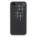 Acc. �����-�������� ��� iPhone SE/5S Sellot Design (����������) (������) (Swarovski elements) (BLK-S