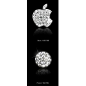 Acc. Наклейка для iDevice RoyalStone Home Logo Sticker Silver (на логотип и кнопку Home)