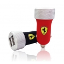 Acc. Автомобильное ЗУ CG Ferrari Slim Car Charger Red/Silver (FERUCC2UAPRE)