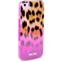 Acc. Чехол-накладка для iPhone SE/5S Just Cavalli Leopard (Replica) (Поликарбонат/Силикон) (Малиновы