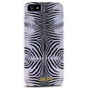 Acc. Чехол-накладка для iPhone SE/5S Just Cavalli Zebra (Replica) (Copy) (Поликарбонат/Силикон) (Бел