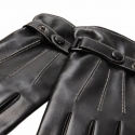 Перчатки Warmen Leather Gloves Black