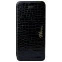 Acc. Чехол-книжка для iPhone SE/5S Viva Madrid Ardiente Serpiente (Кожа) (Черный) (VIVA-IP5SLIB-ASPB