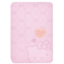 Acc. Чехол-книжка для iPad mini 1/2/3 Garmma Hello Kitty (Кожа) (Малиновый)