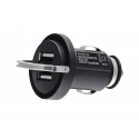 Acc. Автомобильное ЗУ CellularLine Car charger Universal Dual Phone Black (MICROCBRUSBDUAL)