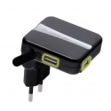 Асс. Сетевое ЗУ CellularLine Dual USB Pocket Charger Black (Italia) (ACHUSBMOBILEDUAL)