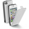 Acc. Чехол-раскладушка для iPhone 4/4S CellularLine Flap Essential (Кожа) (Белый) (FLAPESSENIPHONE4B