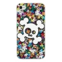 Acc. Чехол-накладка для iPhone 4/4S CellularLine Funny Rain Skull (Пластик) (Изображение) (FUNRAINSK