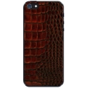 Acc. Защитная пленка для iPhone SE/5S Patchworks Genuine Leather Croco Dark Brown (1118)