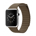 ���� Apple Watch 42mm Stainless Steel Light Brown Leather Loop (L) (MJ422)