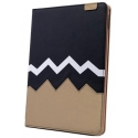 Acc. Чехол-книжка для iPad Air 2 Remax Heartbeat Leather Case (Кожа) (Черный/Золотой)
