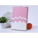 Acc. Чехол-книжка для iPad Air 2 Remax Heartbeat Leather Case (Кожа) (Розовый/Белый)