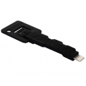 Асс. Кабель Baseus Keys Portable Mini Lightning Cable (Black) (0,08m) (CAPIPH5-KE01)