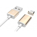 Асс. Кабель Usams Magnetic Lightning to USB Cable (Gold) (1m)