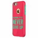 Acc. Чехол-накладка для iPhone 6S Baseus Never Give Up (Поликарбонат) (Малиновый/Голубой) (FSAPIPH6S