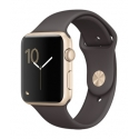 Часы Apple Watch Series 1 Sport 42mm Gold Aluminum Cocoa Sport Band (MNNN2)