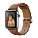 Часы Apple Watch 2 38mm Stainless Steel Space Black Saddle Brown Classic Buckle (MNP72)