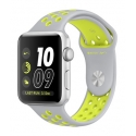 Часы Apple Nike+ 38mm Silver Aluminum Flat Silver/Volt Nike Sport Band Discount (MNYP2)