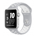 Часы Apple Nike+ 38mm Silver Aluminum Flat Silver/White Nike Sport Band (MNNQ2)