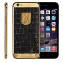 Корпус для iPhone 6S Apple Original 24K Gold Ukrainian Edition, Black Leather (Black)