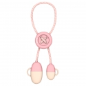 Асс. Кабель Baseus Lightning Button Cable (Pink) (0,3m) (CAANK-04)