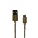 Асс. Кабель Porodo Lightning to USB Cable (Gold) (1,2m) (L122GD)