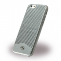 Acc. Чехол-накладка для iPhone 6S CG Mercedes-Benz Carbon Fiber (Карбон/Металл) (Серебристый) (MEHCP