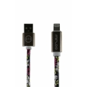 Асс. Кабель Mizoo Lightning to USB Graffiti X28 (Black/Pink) (1m) (08)