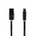 Асс. Кабель Mizoo Lightning to USB Graffiti X28 (Black/Yellow) (1m) (05)