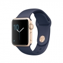 Часы Apple Watch Series 1 Sport 38mm Gold Aluminum Midnight Blue Sport Band Discount (MQ102)