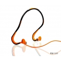 Acc. Наушники с микрофоном Remax Sports Wired Headset Black/Orange (S15)