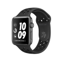 Часы Apple Watch Series 3 42mm Aluminum Nike+ Anthracite/Black Nike Sport Band (MQL42)