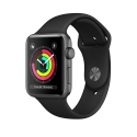 Часы Apple Watch Series 3 38mm Aluminum Black Sport Band (MQKV2)