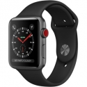 Часы Apple Watch Series 3 42mm Aluminum Black Sport Band (MQK22)