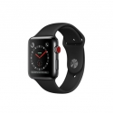 Часы Apple Watch Series 3 42mm Stainless Steel Black Sport Band (MQK92)