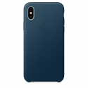 Acc. Чехол-накладка для iPhone X Apple Case Cosmos Blue (Кожа) (Синий) (MQTH2ZM)