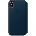 Acc. Чехол-книжка для iPhone X Apple Folio Cosmos Blue (Кожа) (Тёмно-синий) (MQRW2ZM)