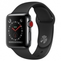 Часы Apple Watch Series 3 38mm Stainless Steel Black Sport Band (MQJW2)
