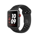 Часы Apple Watch Series 3 38mm Aluminum Nike+ Anthracite/Black Sport Band (MQL62)