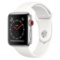 Часы Apple Watch Series 3 42mm Stainless Steel White Sport Band (MQK82,MQLY2)