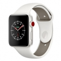 Часы Apple Watch Series 3 38mm Ceramic Soft White/Pebble Sport (MQJY2)
