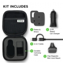 Acc. Автодержатель + ЗУ iOttie iTap Magnetic Mounting and Charging Travel Kit Black (HLTRIO110)