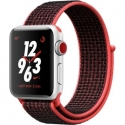 Часы Apple Watch Series 3 38mm Aluminum Nike+ Bright Crimson/BlackSport Loop (MQL72)