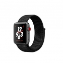 Часы Apple Watch Series 3 38mm Aluminum Nike+ Black/Pure PlatinumSport Loop (MQL82)