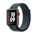 Часы Apple Watch Series 3 42mm Aluminum Nike+ Midnight Fog Nike Sport Loop (MQLH2)